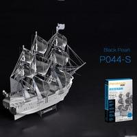 3D Metal Assembling Model Metal Puzzle Black Pearl Pirate Ship Model Kits P044 S DIY 3D Laser Cut Assemble Jigsaw Toys Gift