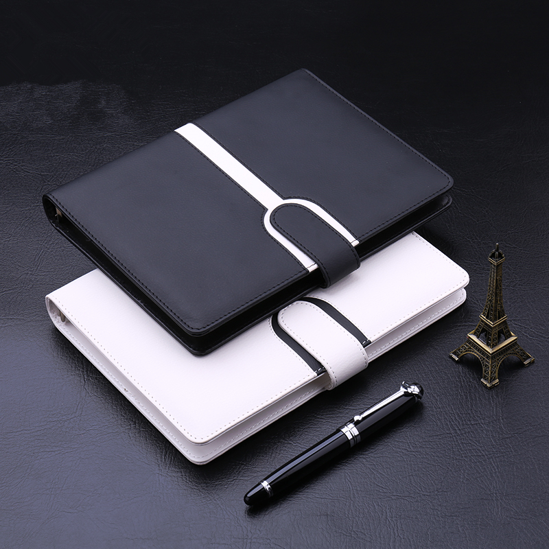 Harphia Binder planner Creative A5 Refillable Spiral Loose Leaf Notebook Travel Journal color contrast filofax agenda harphia 3 colors divider craft separate page white simple but good match for 6 holes loose leaf notebook agenda planner filofax