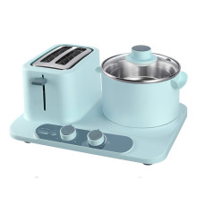 220 В 1320 Вт 304 л 18 см нержавеющая сталь электрическая сковорода для завтрака 2 ломтика хлеба 6 передач тостер антипригарное покрытие сковорода
