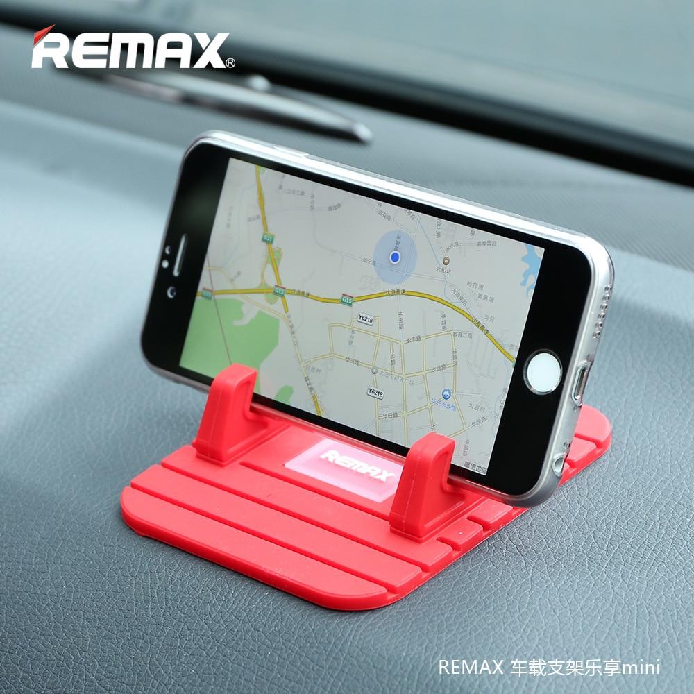 Remax voiture support pour téléphone Silicone souple tapis anti-dérapant support de téléphone Mobile support support GPS pour iPhone 5 6 6 s plus samsung