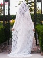 White Ivory luxury Lace Wedding Veils Classical Lace Bridal Veil Wedding Accessories Bride Mantilla Veils For Bride TB1308