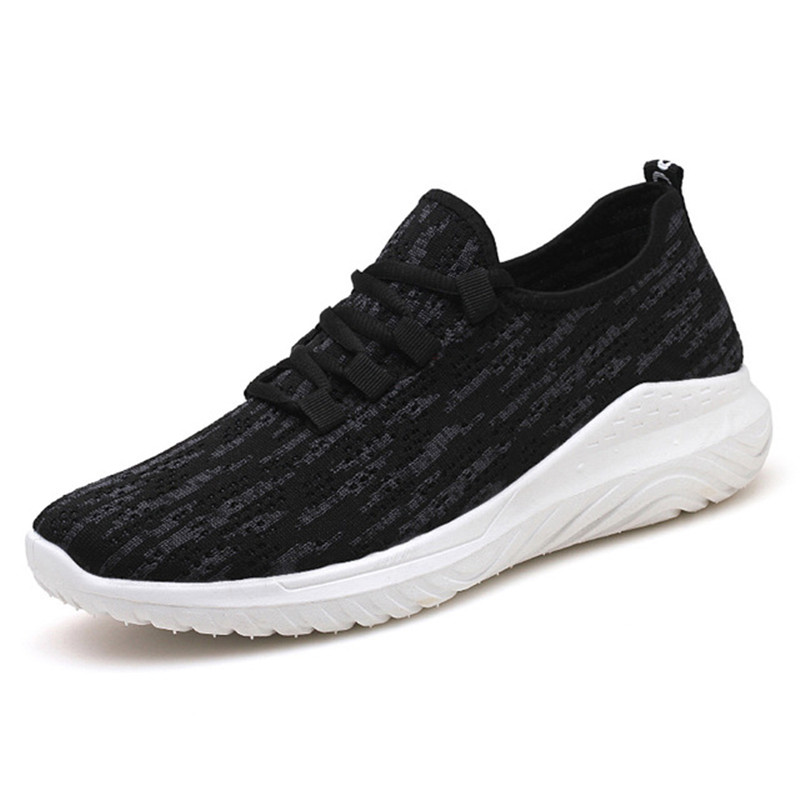 2019 summer new men 39 s shoes fly woven sneakers casual shoes deodorant wear resistant breathable shoes Zapatillas de deporte in Men 39 s Casual Shoes from Shoes