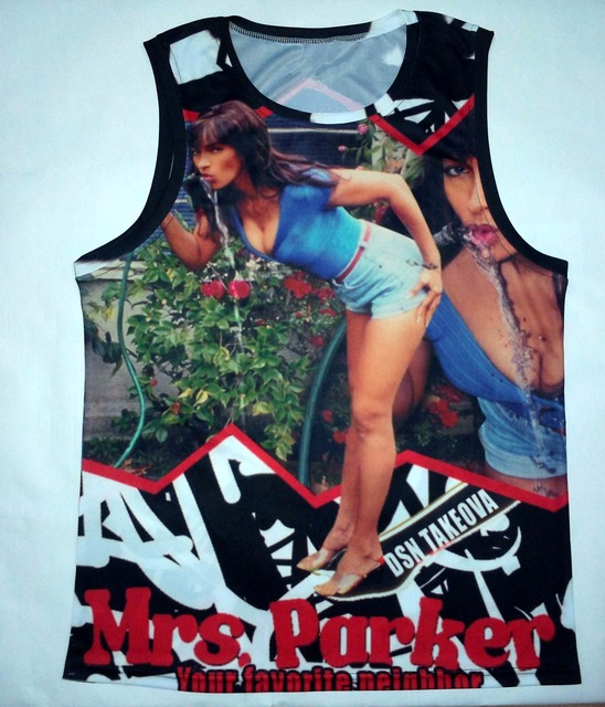 Real American US size OEM Mrs.Parker Tank 3D Sublimation Print custom made clothing