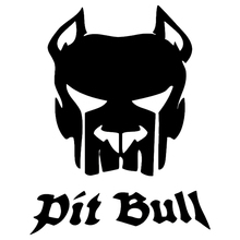CS-1129#14*18cm Pit bull funny car sticker vinyl decal silver/black for auto stickers styling