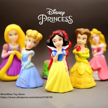 ZXZ Cinderella Belle Mermaid Princess 10cm mini doll Action Figure Anime Mini Collection Figurine Toy model for children gift(China)