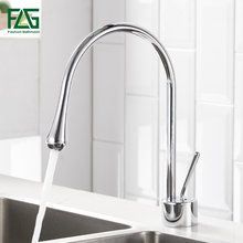 FLG Kitchen Faucets Chrome  Kitchen Mixer Tap With Hot And Cold Kitchen Water Mixers Brass Sink Crane Swivel Mixer Tap flg kitchen sink faucets black brass kitchen faucet 360 swivel 2 function water outlet mixer cold hot mixer water tap 1013 33b