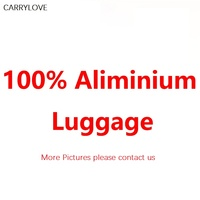 100% Aluminum magnesium alloy 20/24/26/29 inch rolling luggage business travel suitcase aluminum spinner trolley bag on wheel