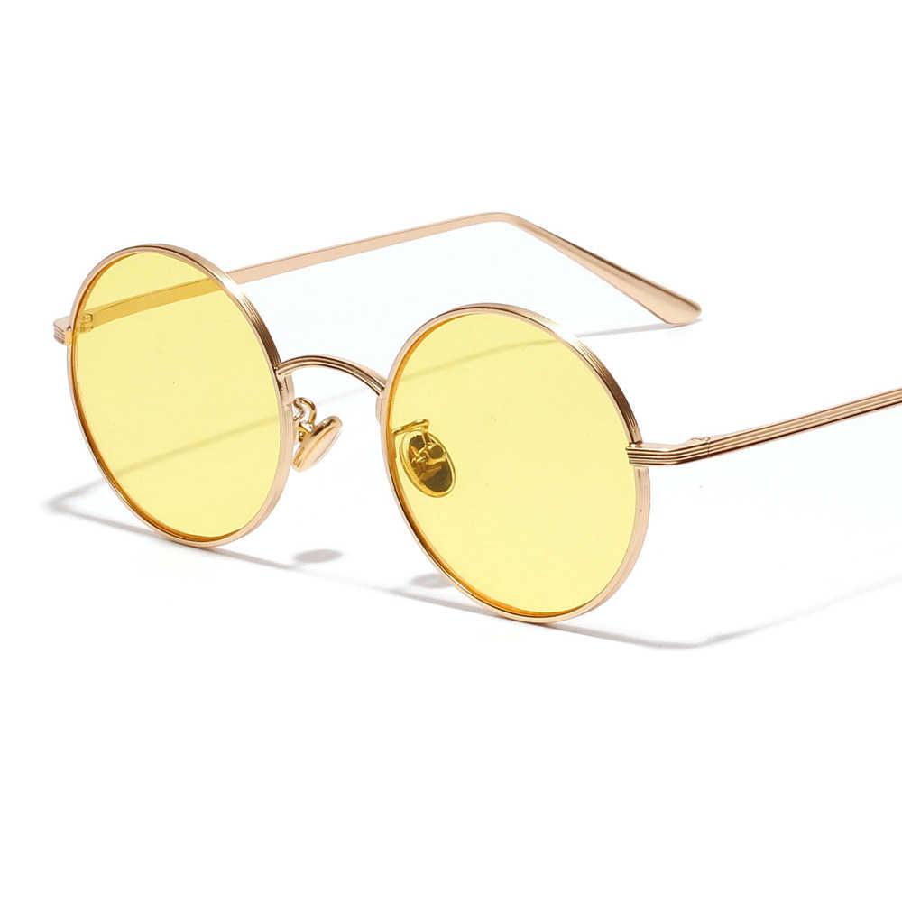 dc103f87b7c2d ... Kachawoo small round sunglasses women gold metal frame yellow red circle  sun glasses men retro eyeglasses ...