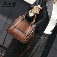 MEETSELF Women PU Leather Handbags Shoulder Bag Casual Tote Female High Quality Sac Main Ladies Hand Bags QZH-8355