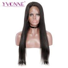 YVONNE Full Lace Human Hair Wigs With Baby Hair 180 Density Brazilian Virgin Hair Straight Wig