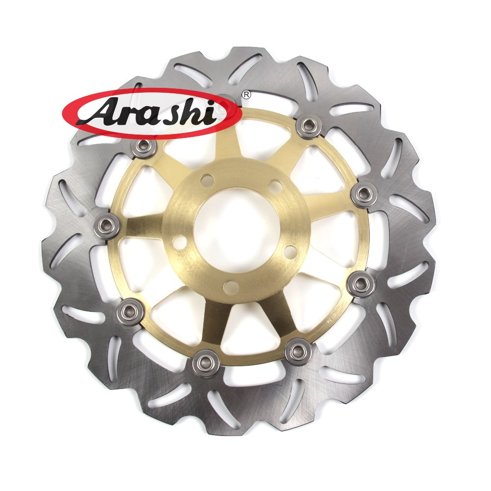 Arashi 1PCS For SUZUKI VZ MARAUDER 800 1996 1997 1998 1999 2000 2001 2002 2003 2004 CNC Front Brake Disc Brake Rotors mfs motor front rear brake discs rotor for suzuki gsxr 600 750 1997 1998 1999 2000 2001 2002 2003 gsxr1000 2000 2001 2002 gold