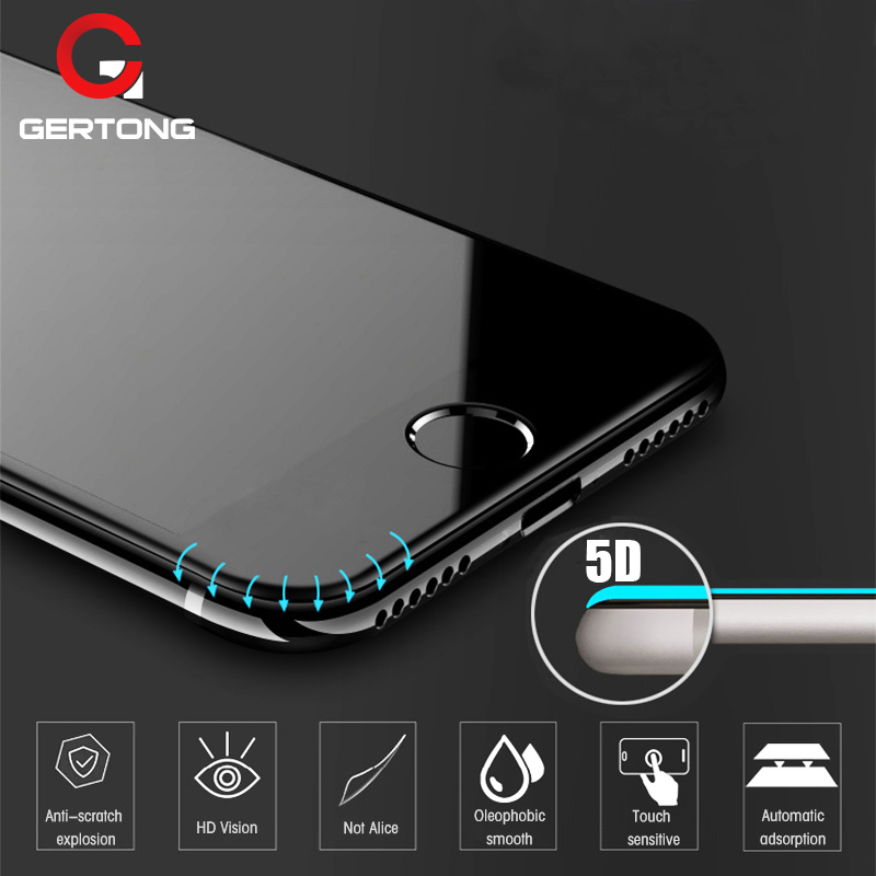5D Curved Edge Full Cover Screen Protector For IPhone 6 7 6S Plus Tempered Glass For IPhone 8 Plus X XR XS Max Toughened Film