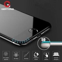 Protector de pantalla de borde curvado 5D para iPhone 6 7 6S Plus 11 Pro Max vidrio templado para el iPhone 8 Plus X XR XS Max