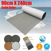 EVA Foam Faux Teak Decking Sheet For Boat 90cm Brown or Gray Marine Self Adhesive Floor Mat Anti Slip Boats Carpet Accessories