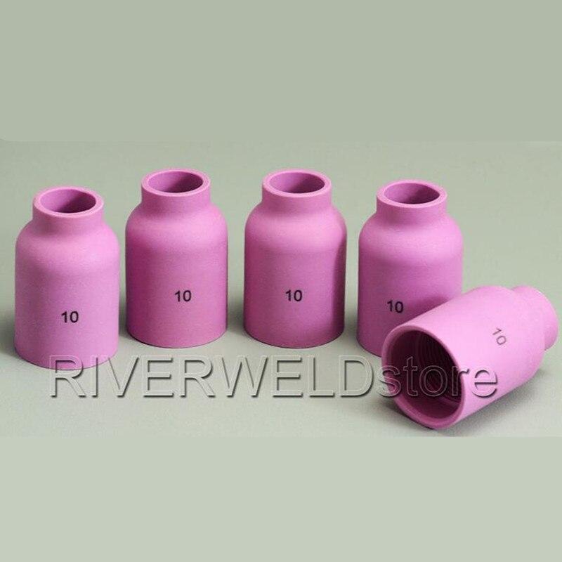 TIG Gas Lens Alumina Nozzle Ceramic Cup Long 54N16L 6L# Kit Fit SR DTA DB WP 17 18 26 TIG Welding Torch 5pk