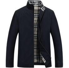 Men's business casual jacket British style Fashion 2016 spring autumn plaid lining simple wild male easy-care coat Size M-XXXL