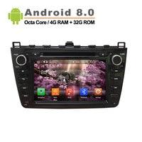 1024*600 Android 8.0 car DVD GPS apply to Mazda 6 Ruiyi Ultra 2008 2009 2010 2011 2012 Autoradio Multimedia Audio Stereo