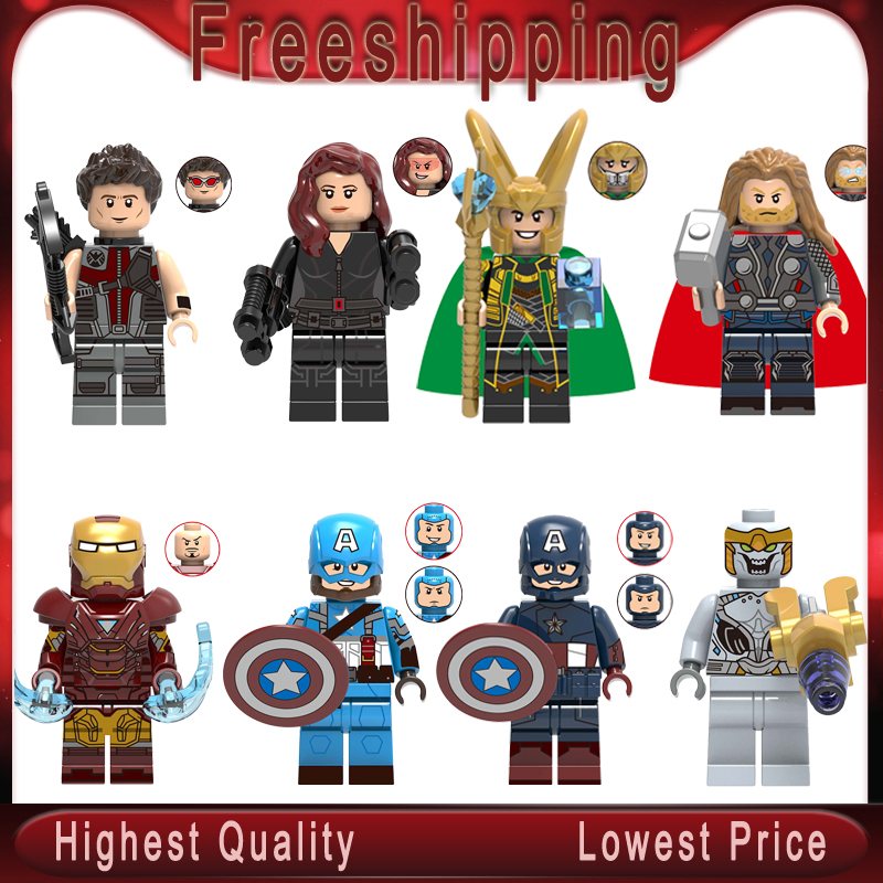 Endgame Iron Man Chitauri Loki Black Widow Thor Hawkeye Captain America Avengers 4 Building Blocks Toy For Children X0259