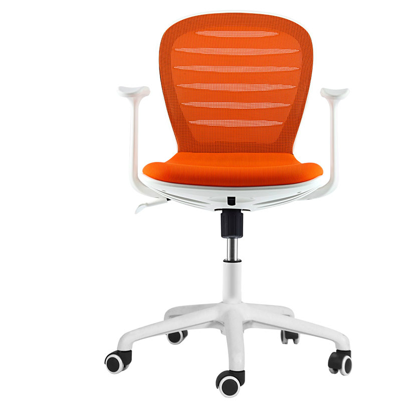 Simple Office Staff Chair With Armrest Lifted Rotated Household Computer Chair Mesh Cloth Slidable Swivel Chair Meeting Stool