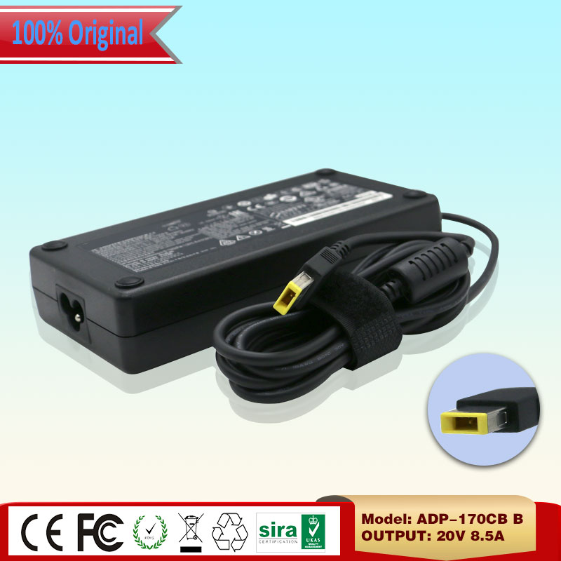 Original 20V 8.5A 170W AC Adapter for Lenovo ThinkPad T440p T540p W540 Series Laptop Charger ADP-170CB B ADL170NLC3A Square Pin Price $59.88