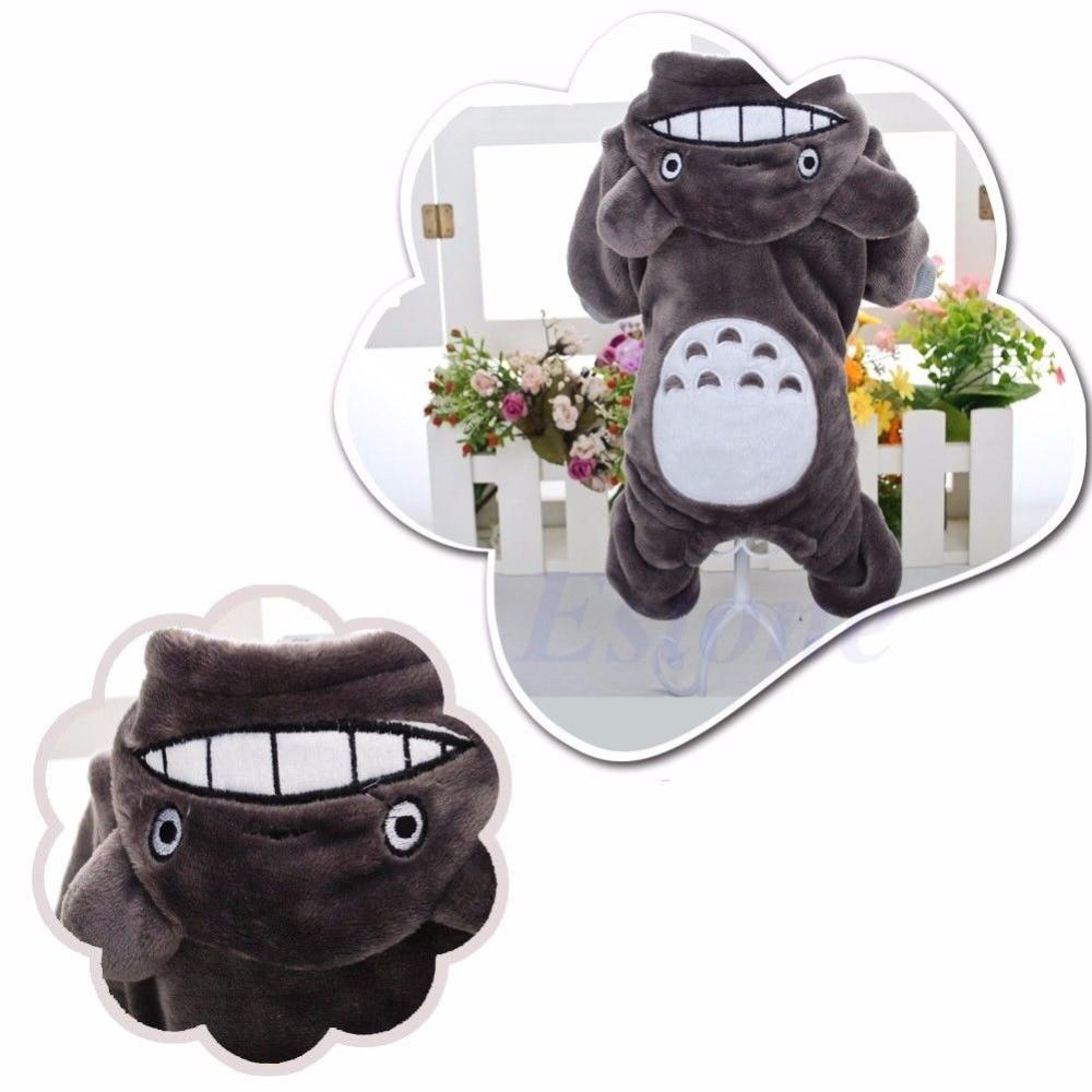 Warm Totoro Hoodie Costume Dog Clothes Pet Jacket Coat Puppy Cat Apparel Winter
