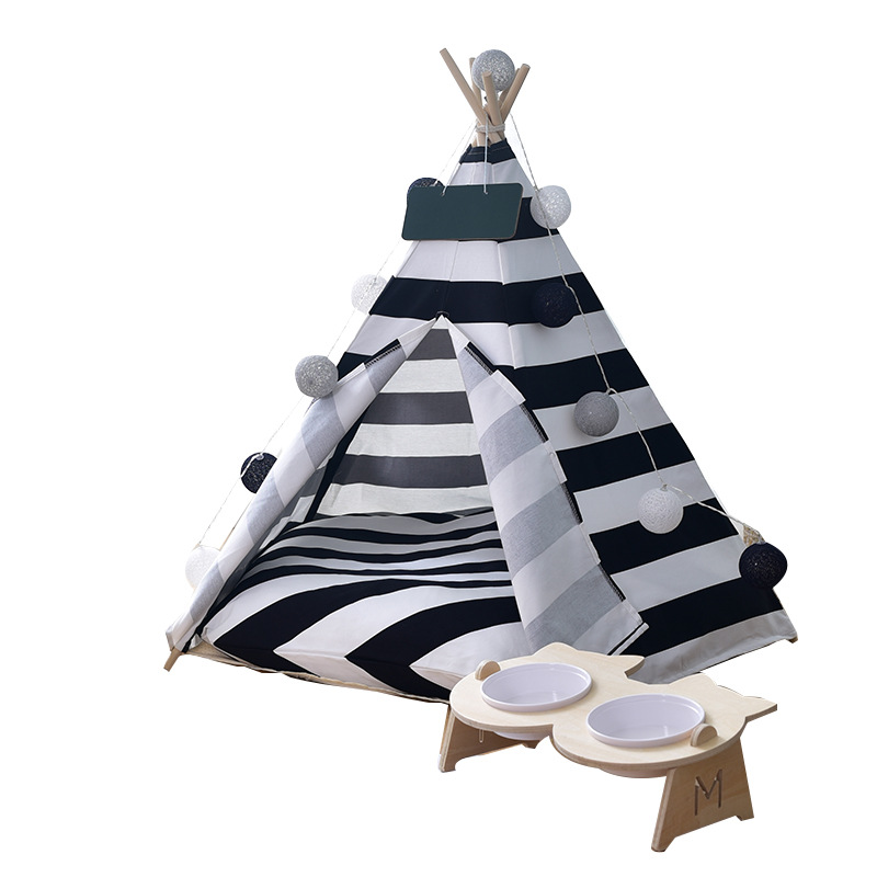 Cat Nest Pet Supplies Can Be Disassembly And Washing Cotton Canvas Pet Tent Pet Nest Cat Bed House Cat Sleeping Bed Pet Products