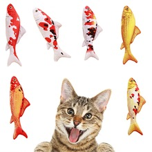 купить Catnip Toys Creative Pet Cat Kitten Chewing Cat Toys Catnip Stuffed Fish Interactive Kitten Product Cat Supplies дешево