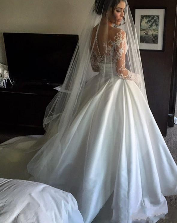 2017 New Split Lace Steven Khalil Wedding Dresses With Detachable ...