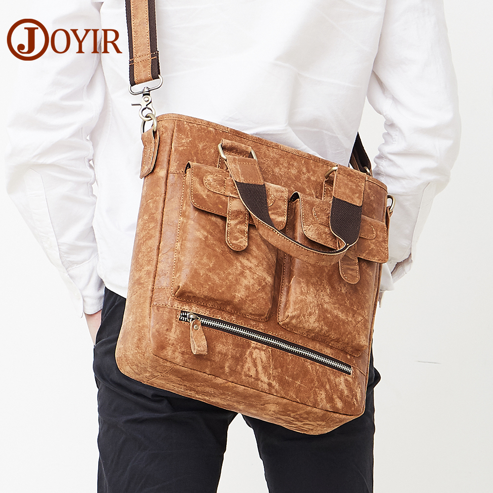 JOYIR Messenger Bag Men Genuine Leather Shoulder Crossbody Bags For Messenger Men Vintage Leather Bags Male Travel Handbags 8730 цена 2017