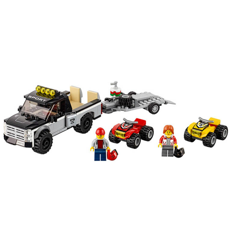 Bela 10649 Urban City Vehicles ATV Race Team Building Blocks Bricks Compatible with Legoe 60148 Toys for Children Gift 196pcs building blocks urban engineering team excavator modeling design