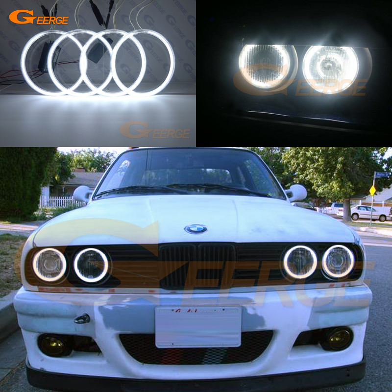 For BMW E30 E32 E34 Excellent angel eyes Ultra bright headlight illumination CCFL Angel Eyes kit Halo Ring full aluminum pass amp enclosure case amplifier chassis diy box 220 90 310mm