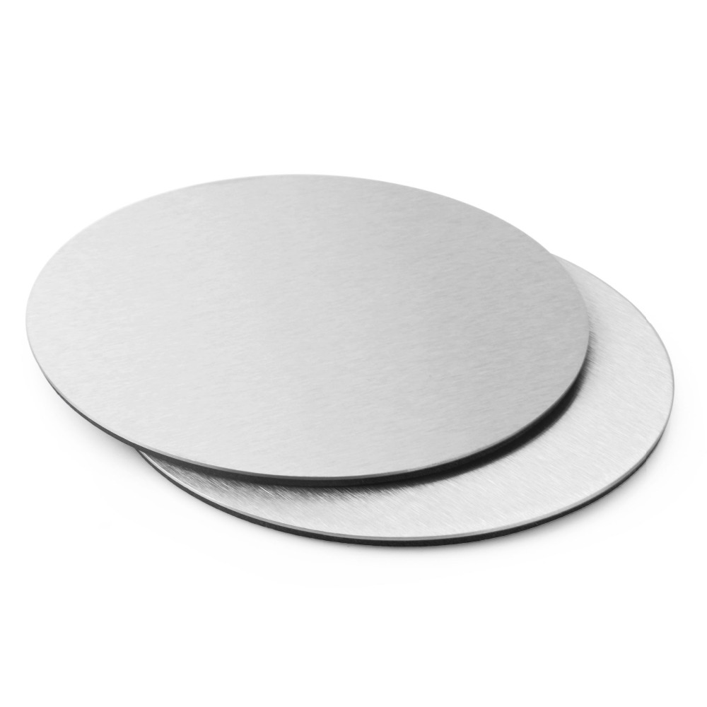 2pc <font><b>Stainless</b></font> <font><b>steel</b></font> <font><b>round</b></font> <font><b>coasters</b></font> <font><b>Cup</b></font> <font><b>mat</b></font> <font><b>Table</b></font> Decoration & Accessories Kitchware Free shipping