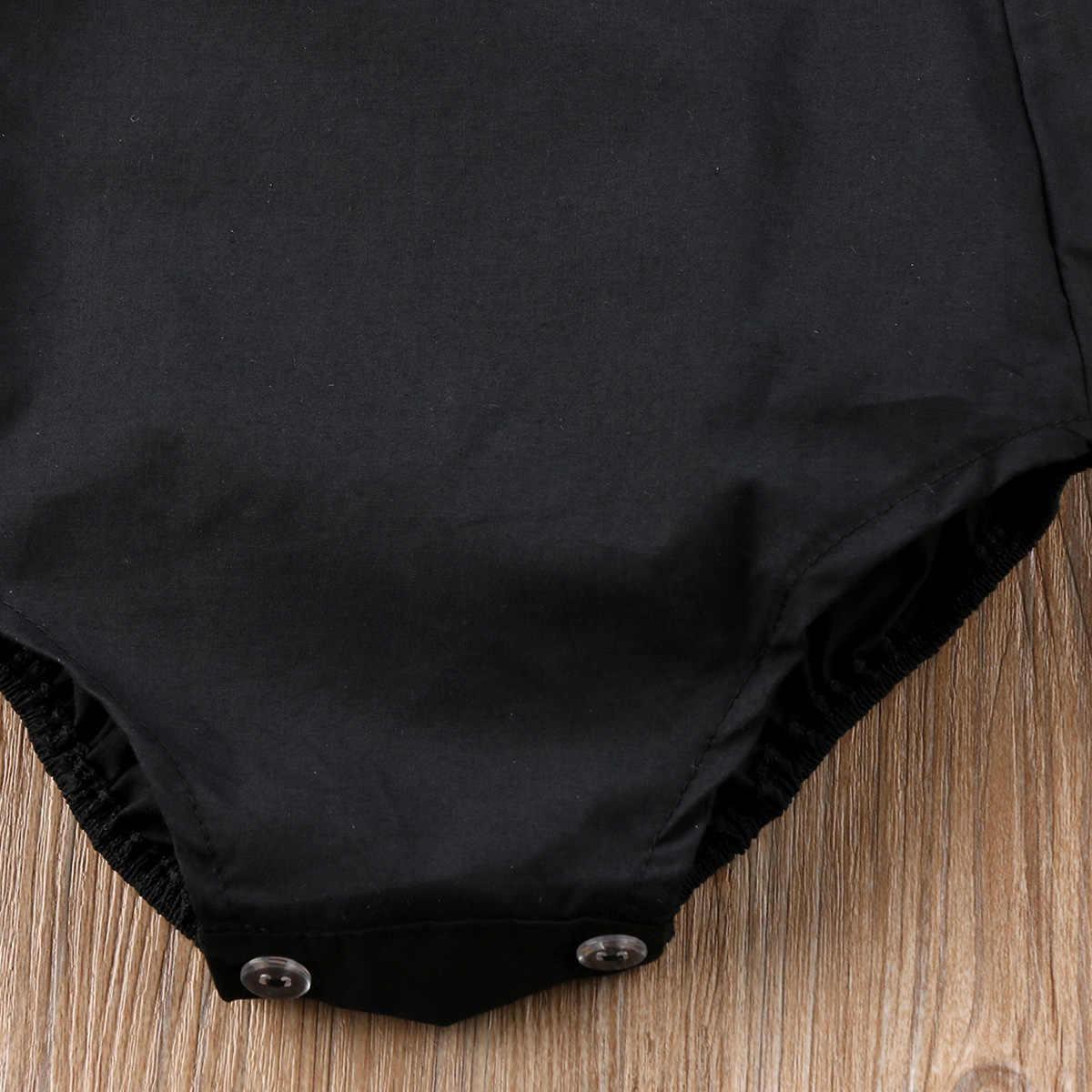 2018 г. Лидер продаж, модная летняя блузка на бретелях для новорожденных девочек, черный однотонный милый боди с открытой спиной для детей от 0 до 18 месяцев