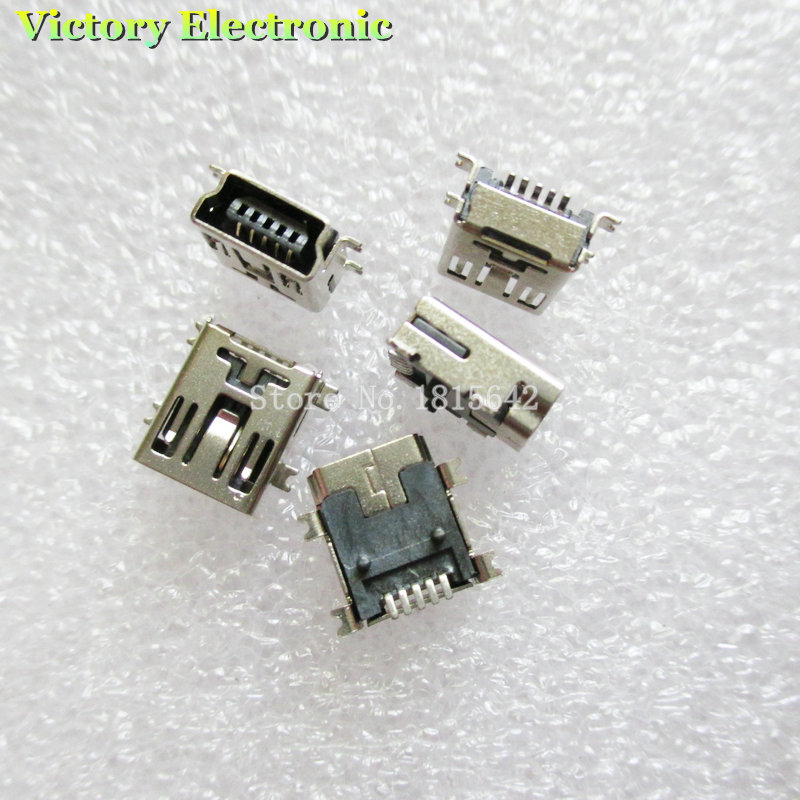 20PCS/Lot USB Socket MINI USB 5P Female SMD Connector Mini USB Interface 5Pin Wholesale