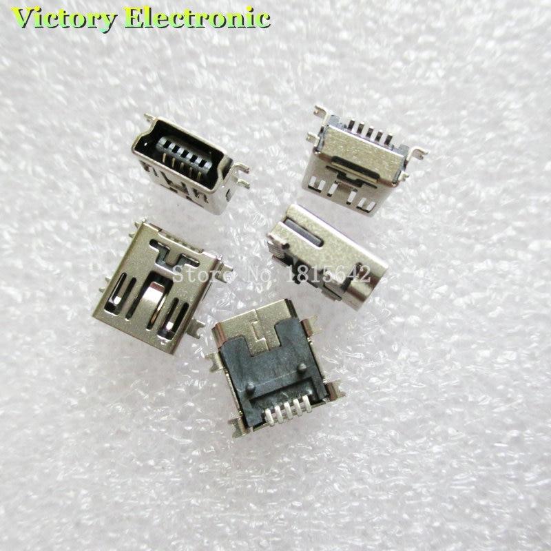 20PCS/Lot USB Socket MINI USB 5P Female SMD Connector Mini USB Interface 5Pin Wholesale