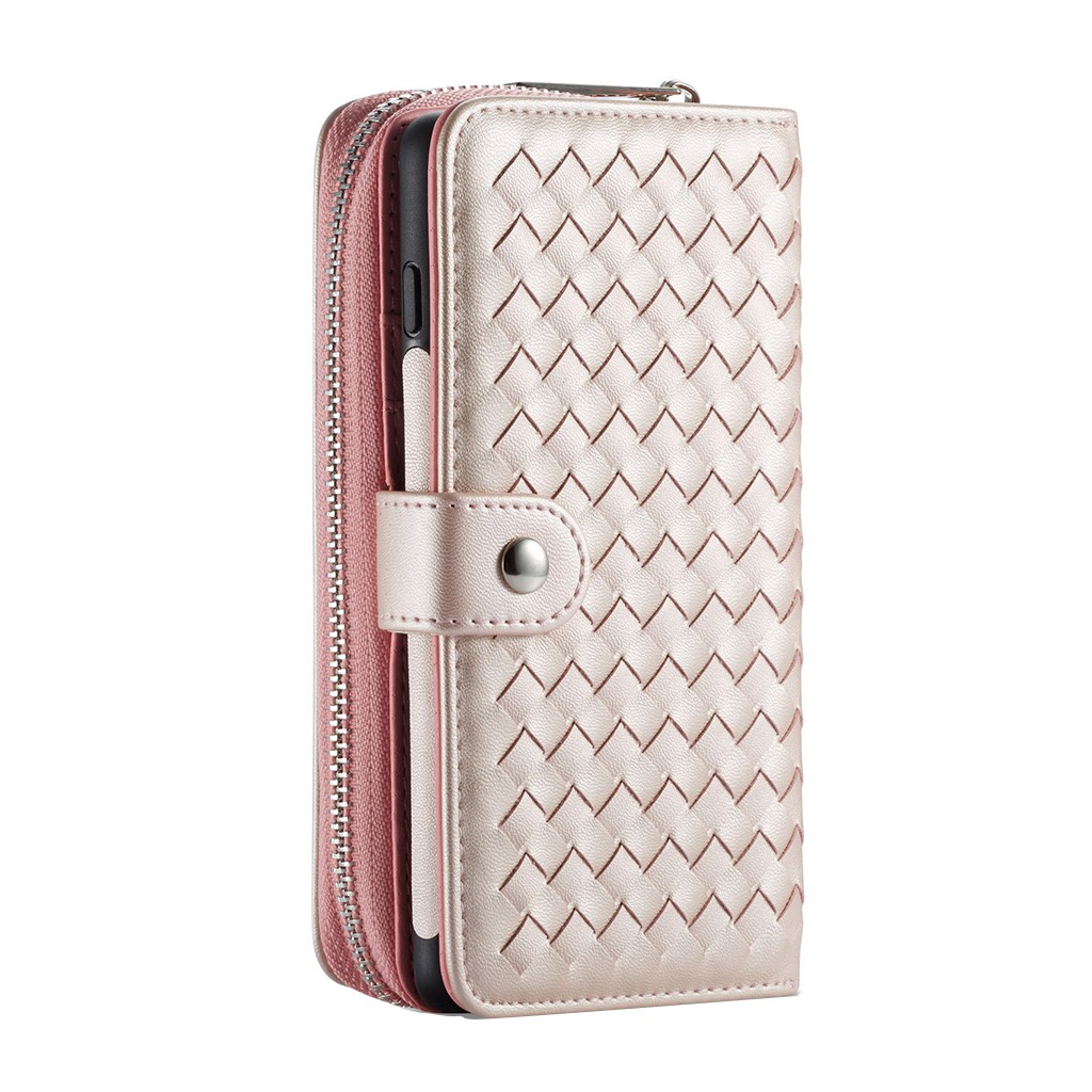Fashion Zipper Leather Protective Cover Case Multi-Function Anti-Fall Phone Case High Quality PU Cover For Samsung S10 PlusG4