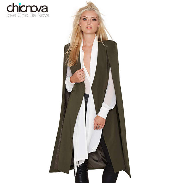 super populaire acheter apparence élégante US $21.29 12% OFF|british style open sleeve Cloak Outwears women Trench  Coats long tuxedo manteau femme coats FS0052-in Trench from Women's  Clothing ...