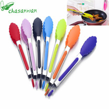 1pcs Kitchen Accessories Silicone Cooking Salad Stainless Steel Handle Utensil Tools Kitchenware Gadgets
