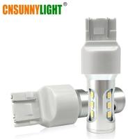 CNSUNNYLIGHT T20 LED W21 5W 7443 Led Bulb 1000Lm Bright 3030 9SMD Canbus Car Brake Reverse