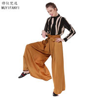 2017 Fashion Summer High Quality Womens Pants Vintage Full Length Soft Losse Casual Wide Leg Pants Beach Trousers