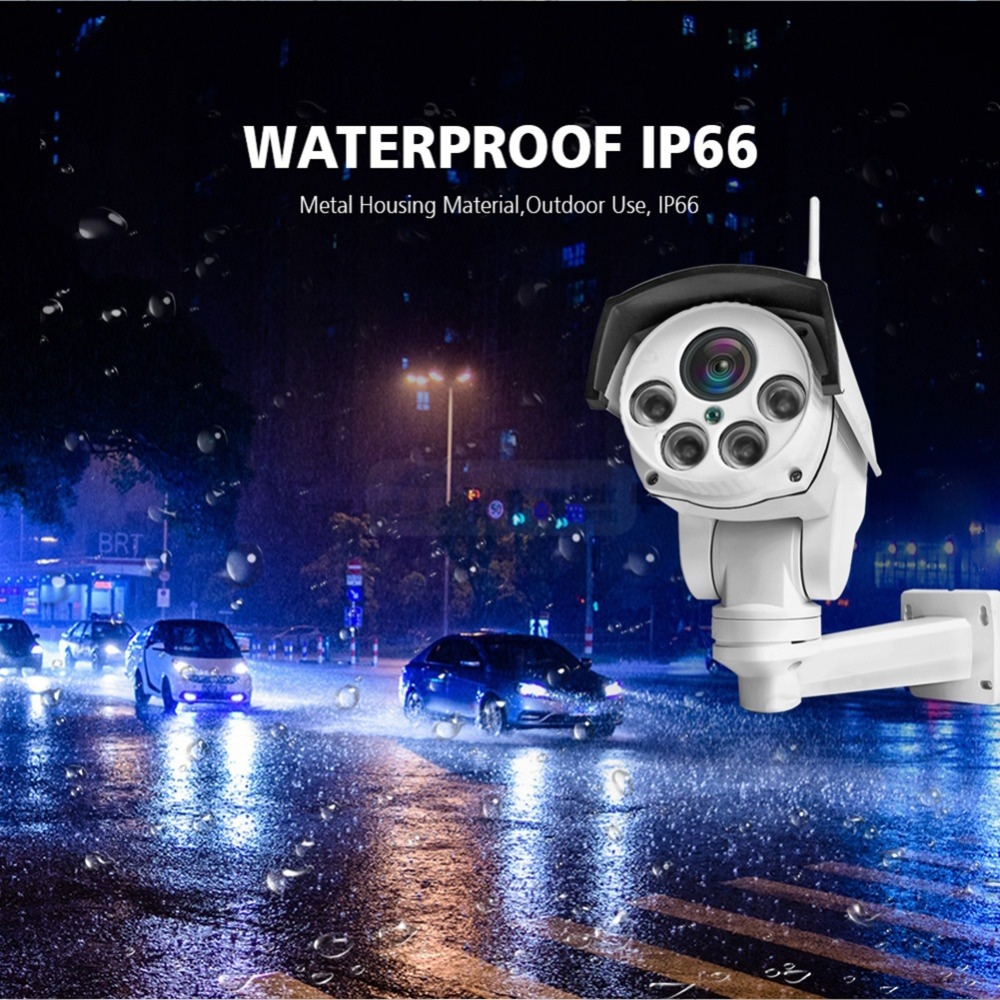 Image 4 - Wireless HD 1080P Bullet Wifi PTZ IP Camera Audio 5X / 10X Optical Zoom Lens 2MP IP Camera Outdoor IR WI Fi Cameras ONVIF CamHi-in Surveillance Cameras from Security & Protection