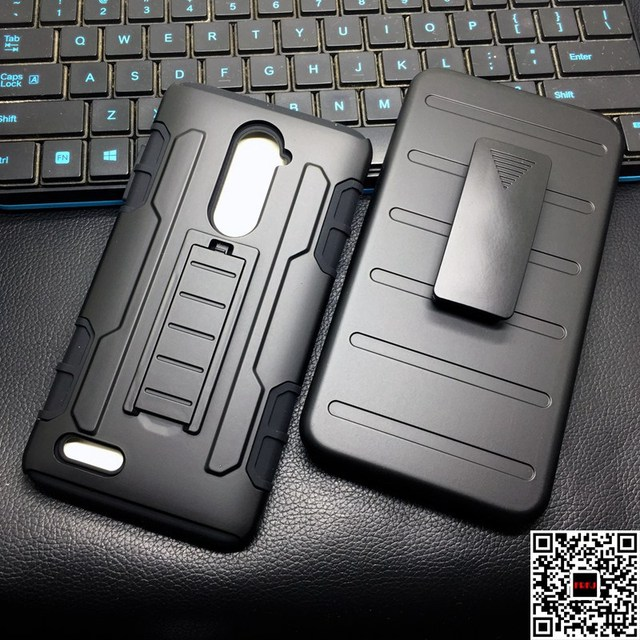 Man Style Anti-shock PC+Silicone Rugged Armor Cell Phone Protective Case For ZTE Zmax Pro Z981 / Z988 / Z963U Cover With Belt