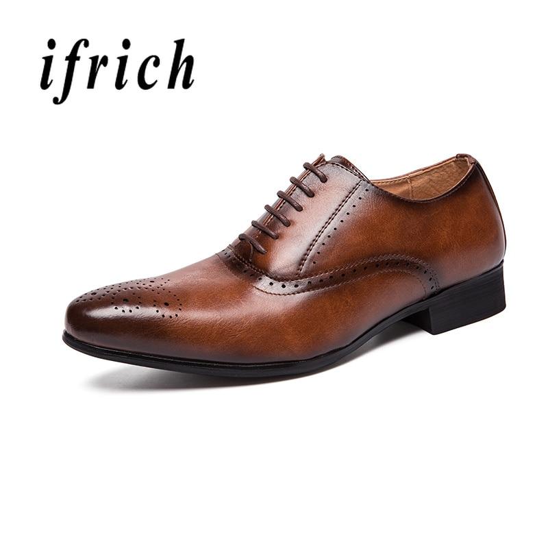 Style britannique hommes Brogue affaires chaussures en cuir chaud chaussures formelles pour hommes marron noir mode marié chaussures de mariage marque de luxe