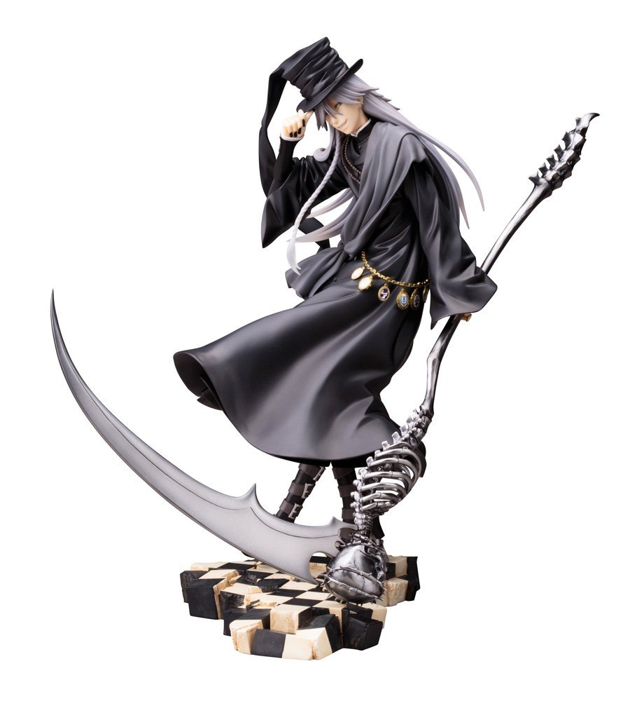 Anime Black Butler Undertaker Action Figure PVC Action Figure Collectible Model Toy 21cm 2017 anime body kun body chan movable action figure model toys anime mannequin bjd art sketch draw collectible model toy