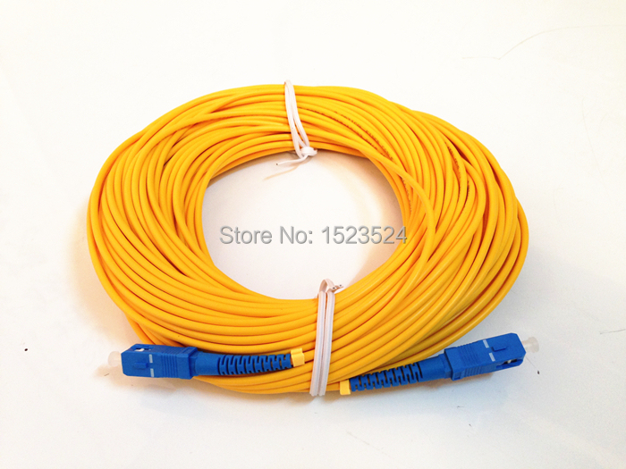 Free Shipping SM SX 3mm 50M 9/125 50 Meters Fiber Optic Jumper Cable SC/UPC-SC/UPC Fiber Optic Patch Cord