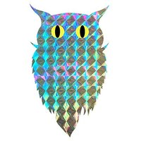 Bird Repellent Blinder Reflective Self Adhesive Owl Sticker 100pcs Roll Eco Friendly Scare A Bird