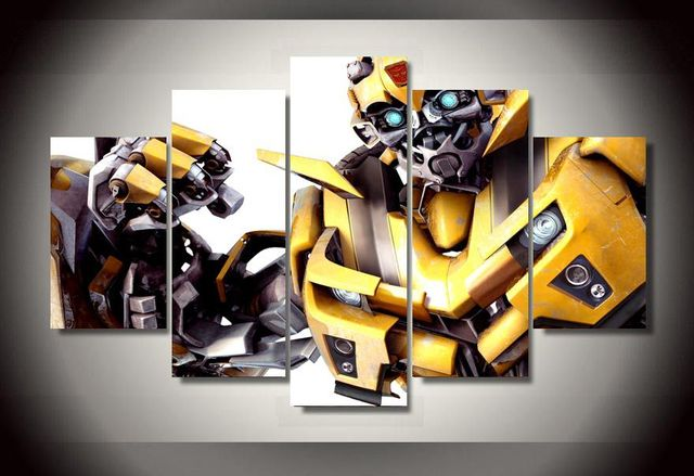 Framed Printed Transformers Bumblebee Picture Painting Wall Art Room Decor  Print Poster Picture Canvas Free Shipping