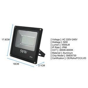 Image 3 - BUYBAY LED מבול אור 220V 240V 30W 50W 100W 200W תאורה חיצונית מקרן רפלקטור led חיצוני זרקור led exterieur