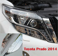 Front Lamp Cover Decoration Trims For Toyota Land Cruiser Prado FJ 150 Accessories