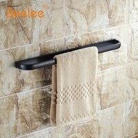 Beelee BA7401B 57 5cm Towel Rack Bathroom Accessories Wall Mounted 22 Inch Single Towel Bars Black
